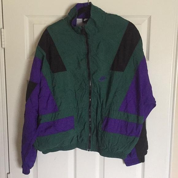 Nike Other - NIKE *VNTG windbreaker green/purple L